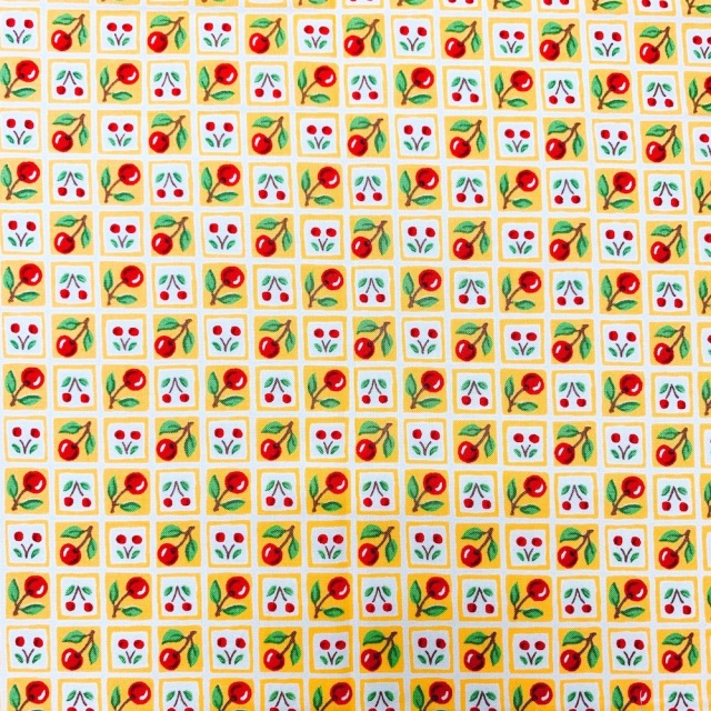 50x55cm (UME-038) イエロー系  花柄