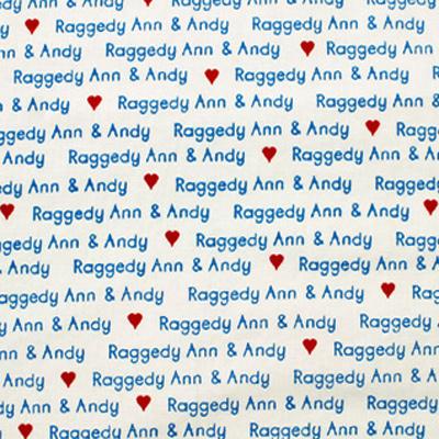 【USA】Raggedy Ann & Andy 50x110cm (URA-001H) カラーバリエーション 【期間限定 セール!!】