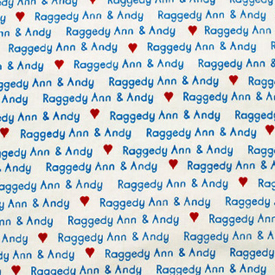 【USA】Raggedy Ann & Andy 50x110cm (URA-001H) カラーバリエーション