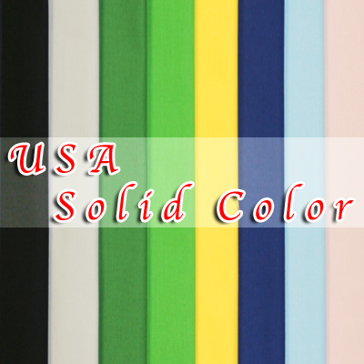 【USA Solid Color】USA無地 50x110cm (USO-001H) カラーバリエーション