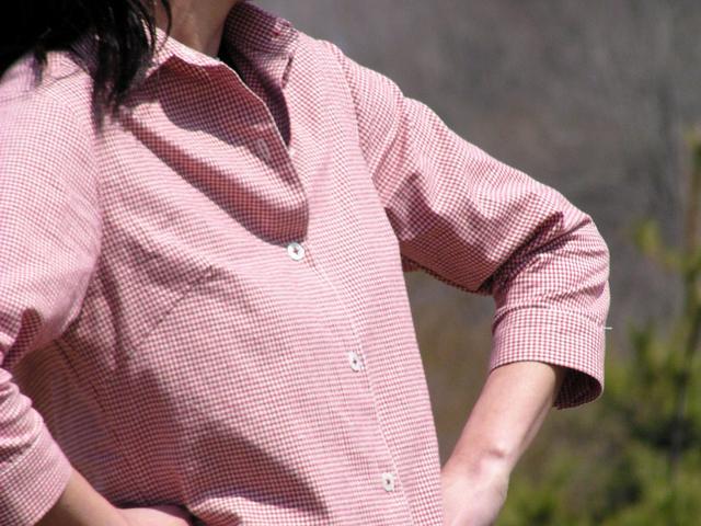 大人七分袖シャツ