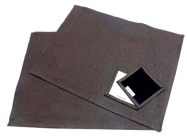 綿麻ランチョンマット/ 35×45センチ&リバーシブルコースター