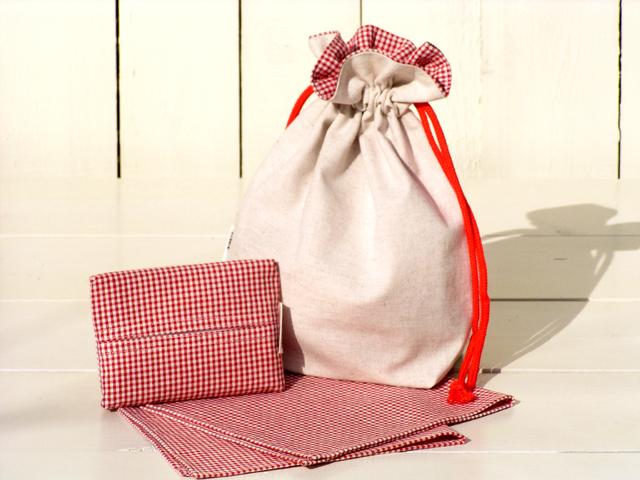 ハンカチ&巾着バッグ&PTセット