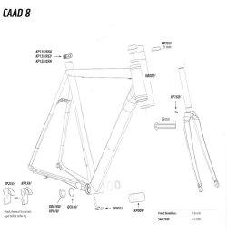 CANNONDALE CAAD 8 FRAME SMALL PARTS(キャノンデール キャド テン フレーム
