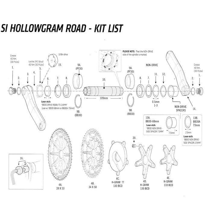 CANNONDALE SI HOLLOWGRAM ROAD CRANK SMALL PARTS(キャノンデール エス