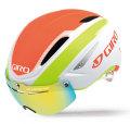 giro helmet airattack shield matte white flame lime ジロ ヘルメット エアアタック シールド ホワイト フレーム ライム