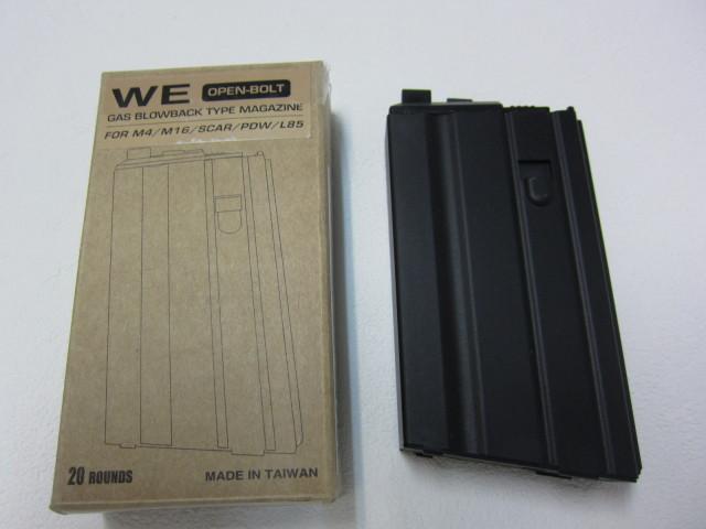WE M16VN ショートGBBマガジンオープンボルト用新品