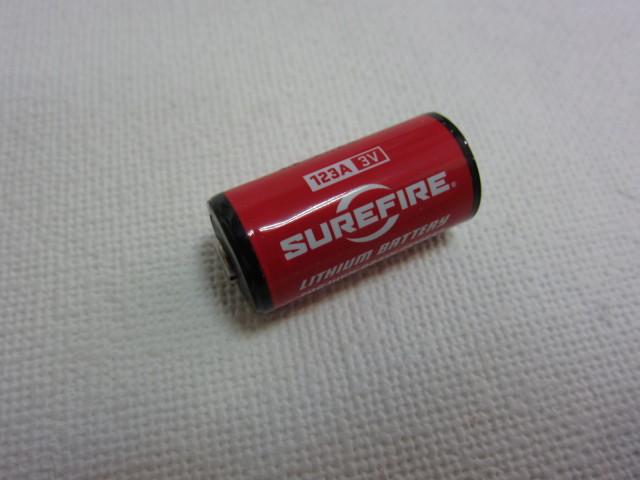 特価!シュアファイアー123Aリチュウム電池新品1個