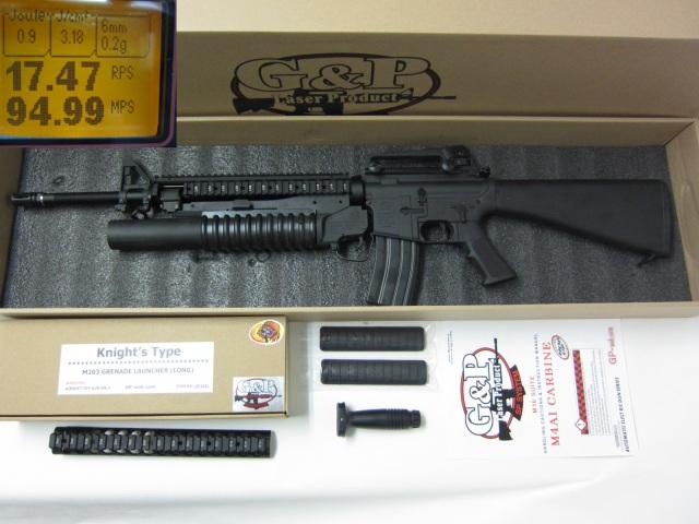 G&P★M16A4RAS M203付電動ガン新品