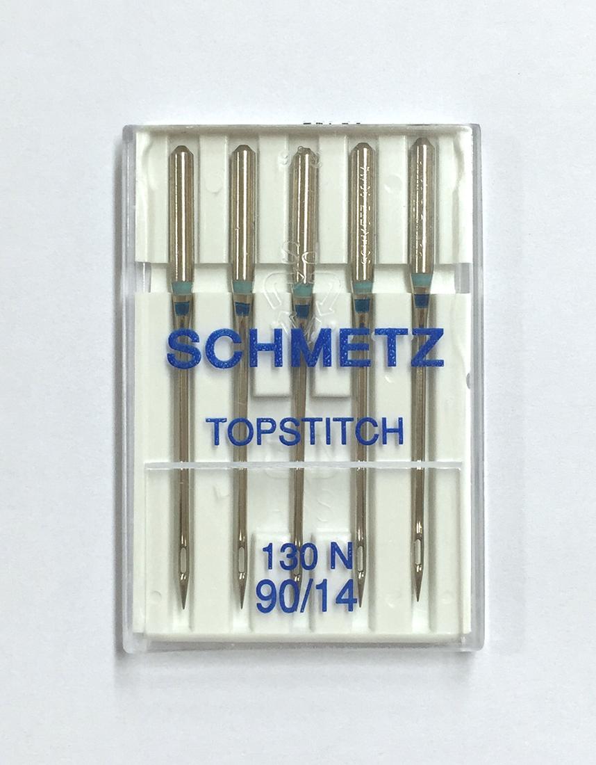 《SCHMETZ》シュメッツ ドイツ製・万能家庭用ミシン針 130N  (トップステッチ) TOPSTITCH  5本セット