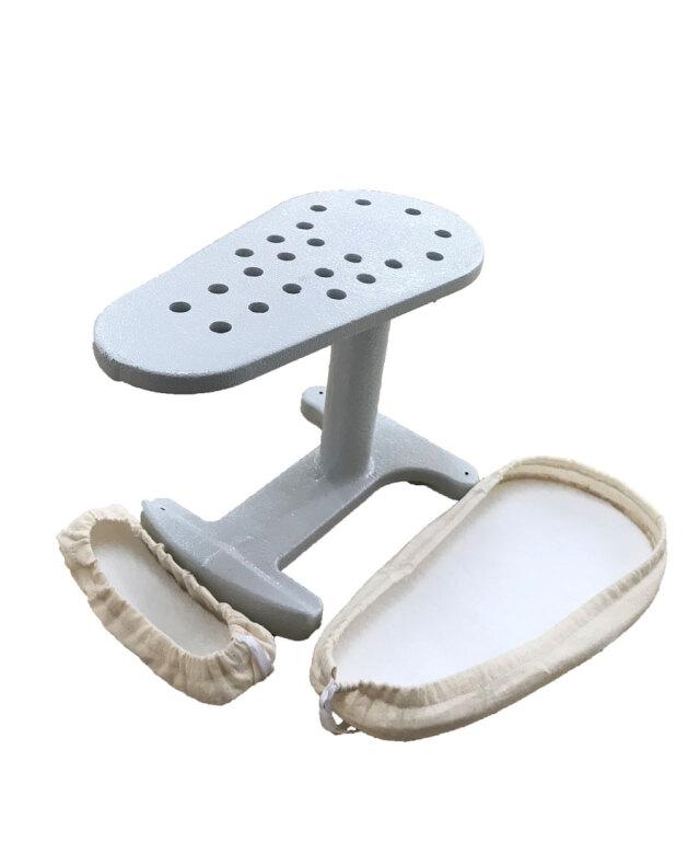 鉄万(カバー&フェルト付) テーラーの必需品 袖・肩・襟などの仕上に最適