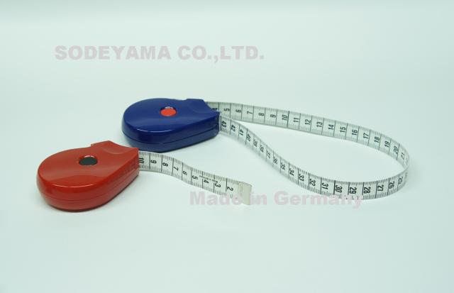 ヘキストマス hoechstmass ラウンドメジャー (頭廻り採寸用) 150cm テープ巾15mm 縦60mmx横78mm