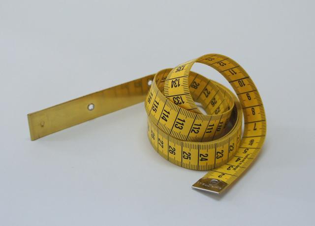 ヘキストマス hoechstmass ブラスエンドワイドメジャー 150cm cm/cm 19mm(W)