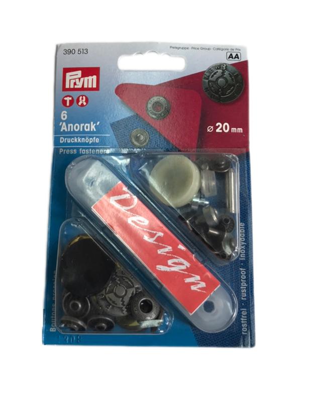 《Prym》プリム ドイツ・スナップ アノラック  径20mm/6セット入 フュージョン アンティークシルバー