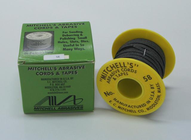 《MITCHELL'S》 ミッチェルテープ USA テープヤスリ 58番4.76mm巾x15m巻 150番