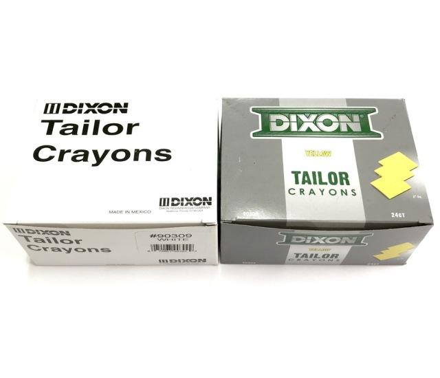ディクソンチョーク DIXON CHALK 白・黄(合計2色展開あり) 24枚入/箱【青、赤は廃盤となりました】