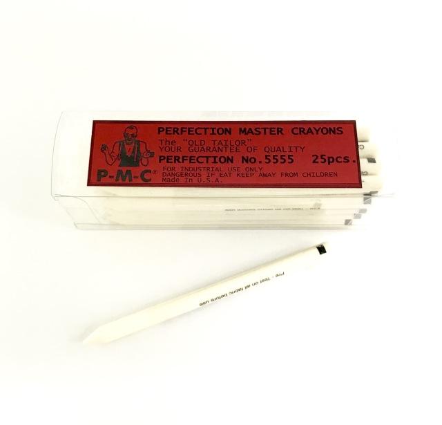 PMC ローチョーク ローチャコ ペンシルタイプ #5555 白 アイロンで消える 25本入/箱
