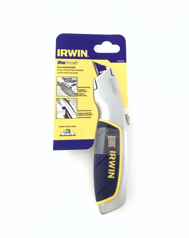 IRWIN アーウィン プロタッチ リトラクタブルナイフ セーフティ 本体・刃3枚入り カッター