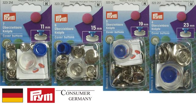 《Prym》プリム ドイツ・ くるみボタン(キット付)カバーボタン