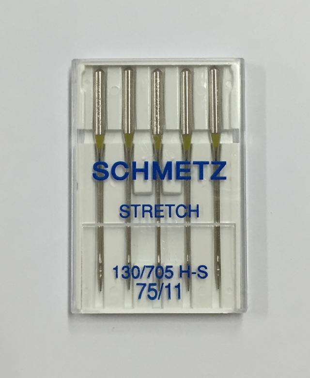 《SCHMETZ》シュメッツ ドイツ製・伸縮生地専用針 130/705H-S STRETCH (ストレッチ) 5本セット