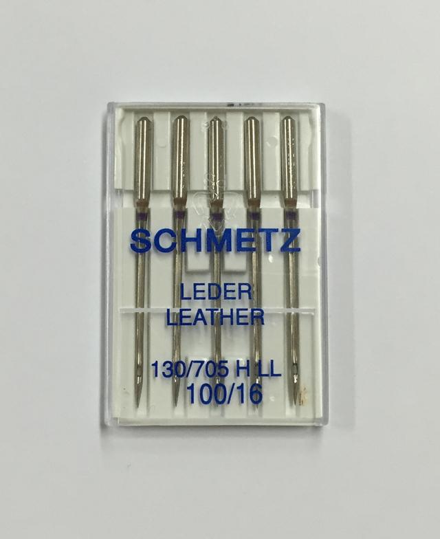 《SCHMETZ》シュメッツ ドイツ製・皮革用針 130/705H-LL LEATHER (レザー) 5本セット
