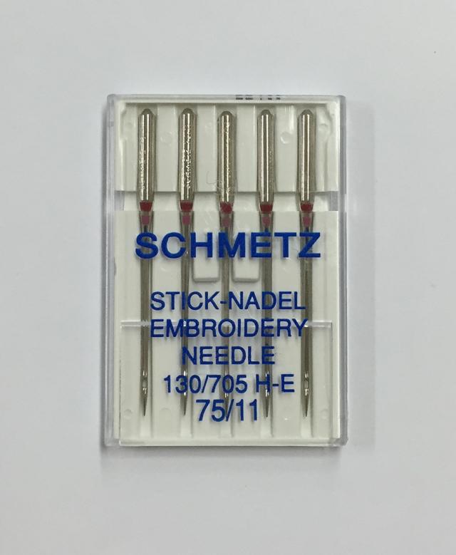 《SCHMETZ》シュメッツ ドイツ製・刺繍用針 130/705H-E EMBROIDERY (エンブロイダリー) 5本セット