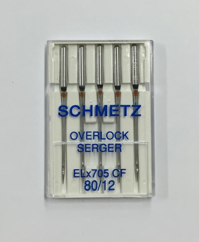 《SCHMETZ》シュメッツ ドイツ製・オーバーロック用針 ELx705 CF OVERLOCK (オーバーロック) 5本セット