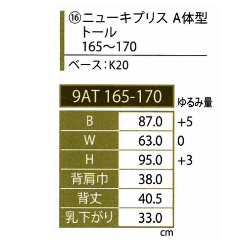 1402 《キイヤ》レディース用ダミーNewKypris9AT165~170ニューキプリスA体型トール165~170