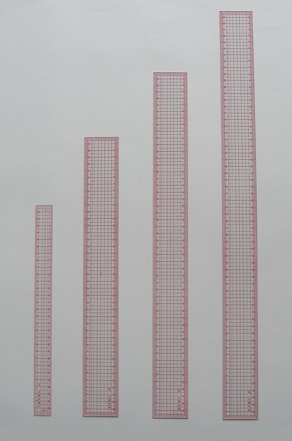 2673 方眼定規デラックス30cm(300x25x0.8mm)
