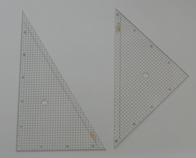 2250 方眼三角定規30cm二枚組