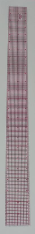 2120 インチ方眼定規24インチx2インチ赤目盛り