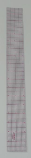 2110 インチ方眼定規18インチx2インチ赤目盛り