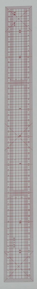 2640 方眼直線定規50cmTKバイアス入り