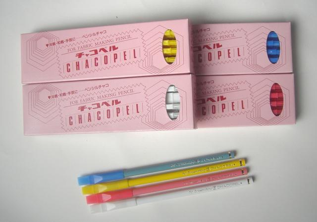 5446-5449 チャコペルCHACOPEL白・赤・黄・青計4色12本入/箱