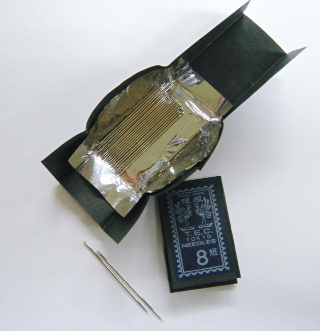 6900-6905 メリケン針各番手25本入日本製短4-9番手縫い針