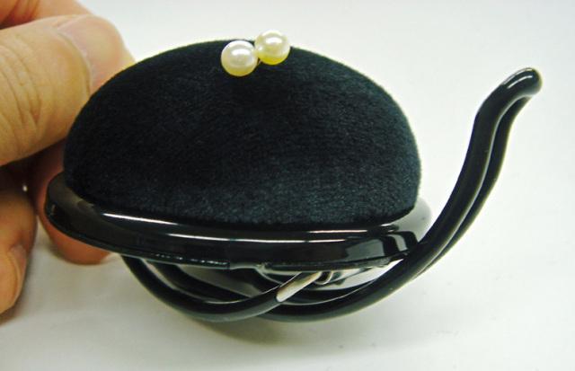 5626 アームピンクッション60mm半円形日本製ブラック