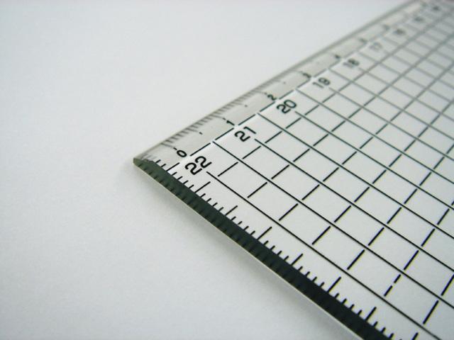 2630 方眼カッター定規45cm(450x50x3mm)黒目盛りDESIGNMASTER