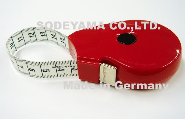 2749 ヘキストマスhoechstmassラウンドメジャー150cmテープ巾15mm縦60mmx横78mm