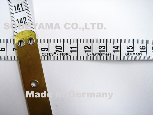 2788 ヘキストマスhoechstmassブラスエンドメジャー150cm15mm巾