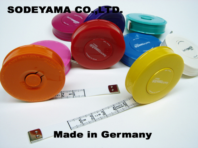 2760 ドイツ製ヘキストマスhoechstmassNEWロールメジャー150cm10mm巾採寸用
