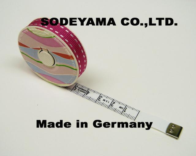 2744 ヘキストマスhoechstmassパステルメジャーウェーブ150cm/10mm巾ヘキストマスメジャー採寸用