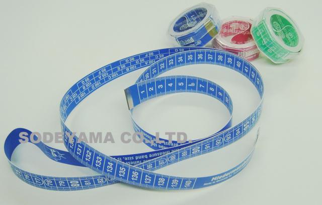 2789 ヘキストマスhoechstmassバストゲージメジャー表・アンダーバスト計測用裏・トップバストカップサイズ計測用