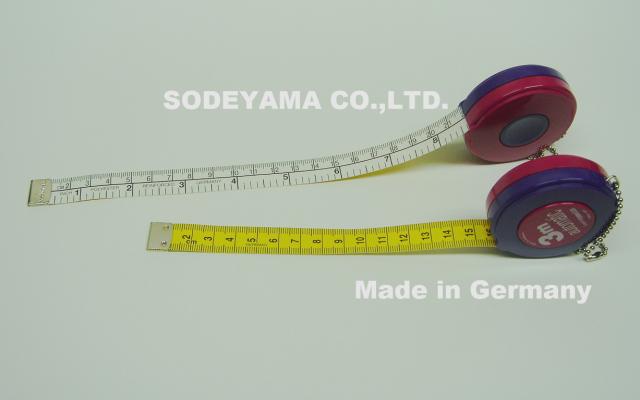 2748 ドイツ製ヘキストマスhoechstmassロールメジャーテープ長さ300cm(3m)/巾15mm