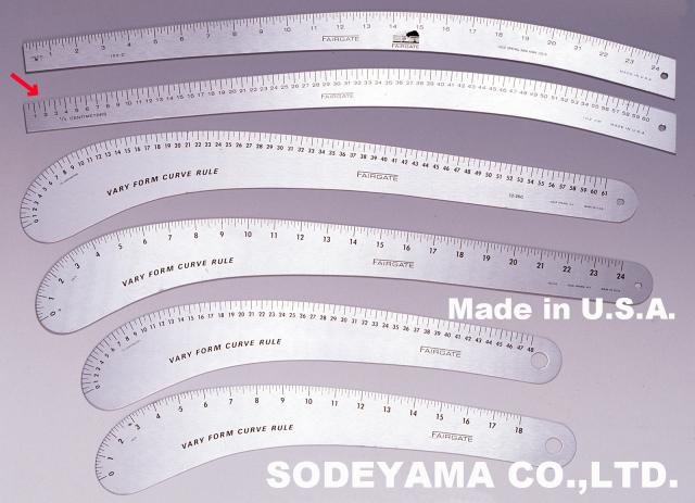 2200 アメリカ製カーブ尺VARYFORM60cm(センチ表示)