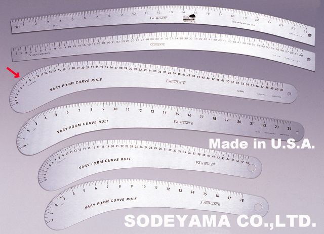 2700 アメリカ製カーブ尺VARYFORM61cm(センチ表示)