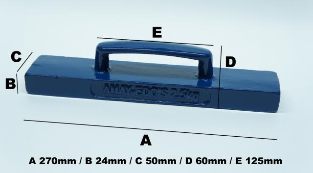 6620 文鎮2.5kgサイズ50mmx270mm
