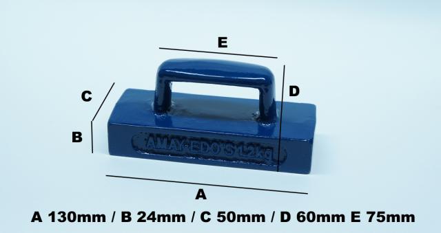 6640 文鎮1.2kgサイズ50mmx130mm