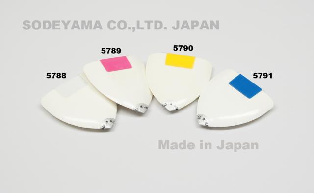 5788-5791 パウダーチョーク本体白・赤・黄・青計4色回転式のパウダーチャコ