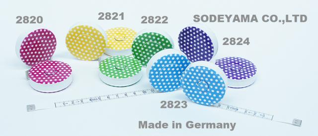 2820-2824 ドイツ製ヘキストマス1.5mhoechstmassロールメジャー新色ドット