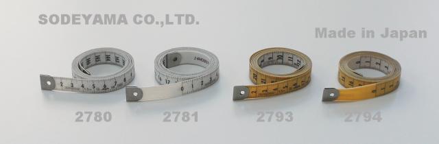 2780-2781-new 日本製耐久・抗菌メジャー150cm/15mmJIS1級認定・ダブルコーティンググラスファイバー